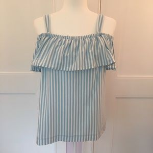 J. Crew factory striped of the shoulder tank top